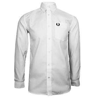 Fred perry mens white oxford shirt