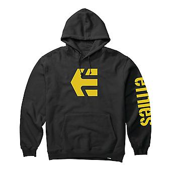 Etnies Icon Pullover Hoody in Black/Yellow