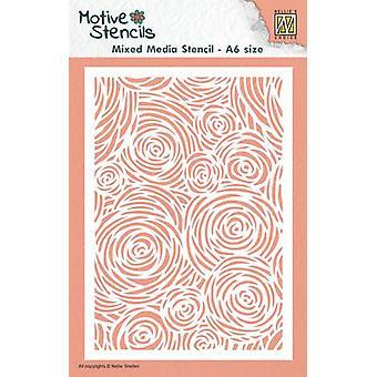 Nellie's Choice A6 Stencils til blandede medier - Blomster