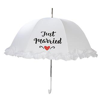 X-brella Womens/Ladies Frilly Just Married Wedding Umbrella