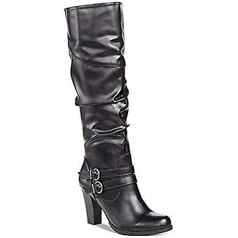 Style & Co. SANA Boots Black Smooth 6.5M