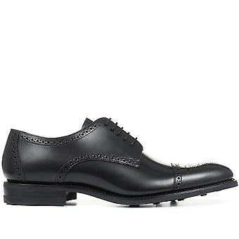 Loake by Jones Bootmaker Mens Aztec Goodyear Welted Leather Derby Brogue