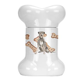 Carolines Treasures  CK2318BSTJ Irish Wolfhound Bone Shaped Treat Jar