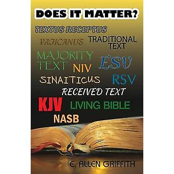 Does It Matter by Griffith & E. Allen