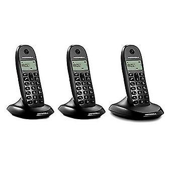 Trådløs telefon Motorola E07000D48B3AES03 (3 stk. 1) Sort