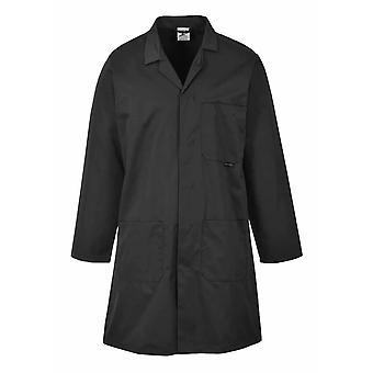 Portwest - Standard Lab Medical Coverall Coat Negru XXL