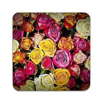 2 ST Flowers Roses Coasters