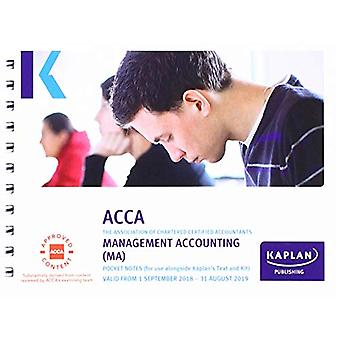 MANAGEMENT ACCOUNTING (MA) - POCKET NOTES by Kaplan Publishing - 9781
