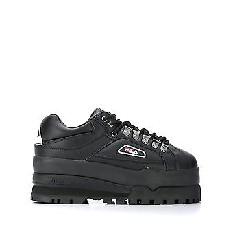 Fila Ezcr008006 Kvinnor's svarta lädersneakers