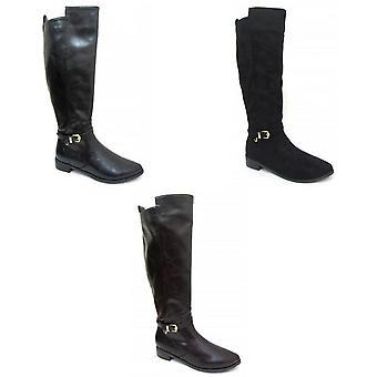 بقعة على المرأة/السيدات الركبة عالية أحذية الشتاء