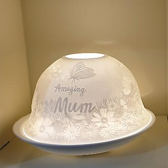 Nordic Lights Amazing Mum Tealight Candle Shade & Tray