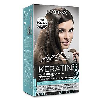 Leczenie prostowania włosów Keratyna Anti-frizz Post Kativa (3 szt.)