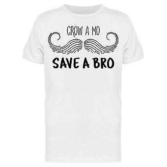 Grow A Mo Save A Bro Mustache Tee Men's -Image by Shutterstock