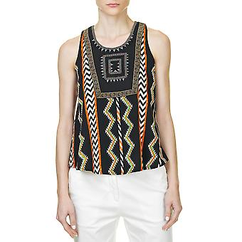 Glamorous Women's Top With Colorful Print