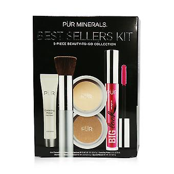 Best sellers kit (5 piece beauty to go collection) (1x primer, 1x pressed powder, 1x bronzer, 1x mascara, 1x brush)   # light 5pcs