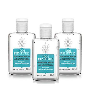 Value saver pack - 3 x 70% alcohol hand sanitiser, rinse free, made in france, vegan & cruelty free