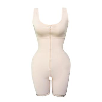 Front  zipper control tummy shaping hips bodysuit
