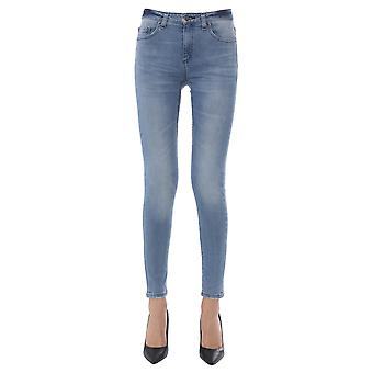 Michael Por Michael Kors Ms99cgy4v6488 Women's Light Blue Cotton Jeans