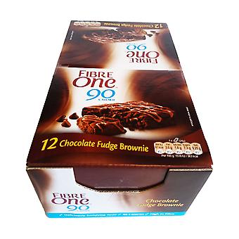 12 x 24g Fibre One Chokolade Brownie Barer Morgenmad Picnic Frokost Snack Food