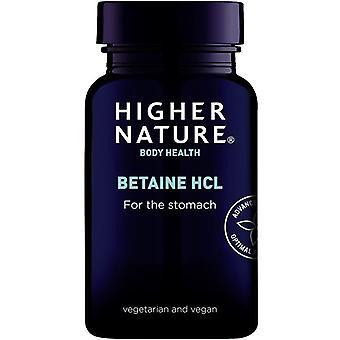 Korkeampi luonto Betaine HCl Kapselit 90 (BET090)