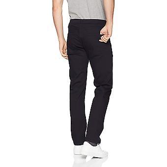 Essentials Men's Straight-Fit Stretch Jean, Black, 34W x 28L