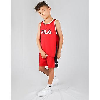 New Fila Boys' Carter Mesh Vest/Shorts Set Red