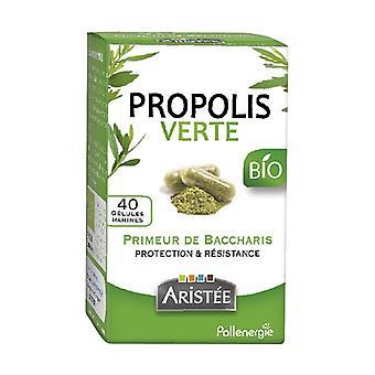 Organic Baccharis green propolis 40 capsules of 200mg