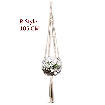 Hanging Baskets Plant Holder Pot Macrame Plant Hanger Jute Rope Braided Craft Vintage Decor