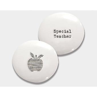 Special Teacher Porcelain Pebble - Cracker Filler Cadeau