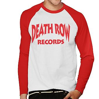 Death Row Records Logo rood mannen honkbal lange mouwen T-Shirt