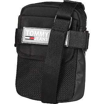 Tommy Jeans Urban Reporter Unisex Classic Side Bag in Black