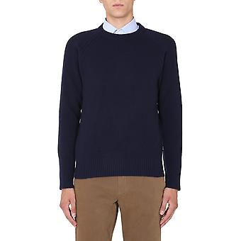 Z Zegna Vvg72zz410b09 Männer's blaue Wolle Pullover