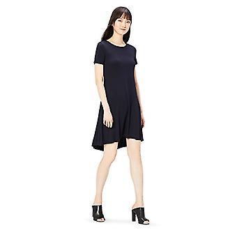 ブランド - 毎日の儀式の女性&アポス;sジャージー半袖オープンクルーネックドレス、ネイビー、大