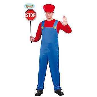Herren Kostüm Bauer Lokführer Traktorfahrer Karneval Mario