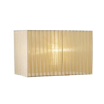 Rectangle Organza Shade, 400x210x260mm, Soft Bronze, For Floor Lamp