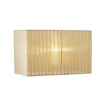 Prostokąt organza odcień, 400x210x260mm, miękki brąz, do lampy podłogowej