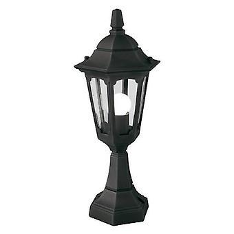 Elstead Parish - 1 Linterna de pedestal al aire libre ligera negra IP44, E27