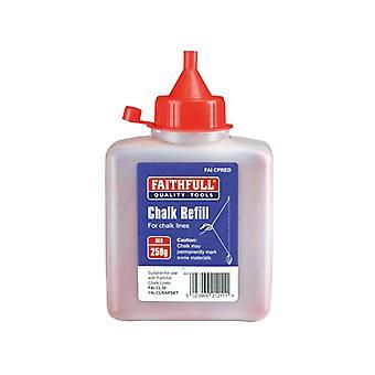 Faithfull Chalk Powder 250g - Red FAICPRED