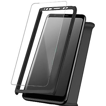 Hard Shell + Glass for Samsung Galaxy S10 Lite Smooth Hard-Plastic Durable Black