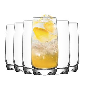 LAV Adora Highball Cocktail Tumbler Bril - 390ml - Pack van 6 Highball Glazen voor cocktails