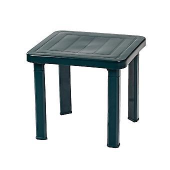 Resol 3 Piece Andorra Garden Patio Side Table Set - UV Resistant Outdoor Furniture - Green - 47 x 47cm