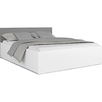 Houten bed 2 persoons 140x200cm inclusief dubbelzijdig matras grijs