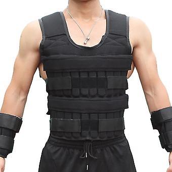 30KG Załadunku Kamizelka wagi do treningu siłowego Boks Trening fitness Siłownia Sprzęt Regulowany kamizelka kurtka piasek odzież