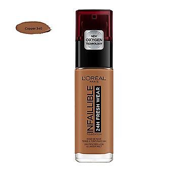 L'Oreal Paris Infaillible 24H Fresh Wear Foundation - Copper 340