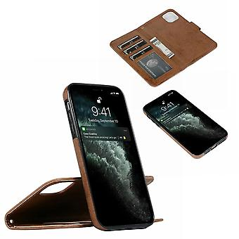 Suede magnetic case for iPhone 11 Pro with magnetic lock.