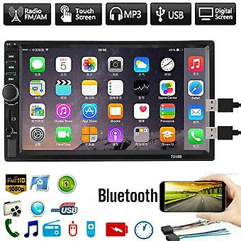 "7"" Double 2 Din Head Unit Car Stereo Bluetooth Mp5 Player, Touch Screen Bt"