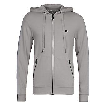 True Religion Putty Grey Hooded Sweatshirt