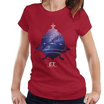 E.T. Nave espacial Galactic Silhouette Women's Camiseta
