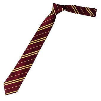 Krawat Bordowy/Złoty z paskami