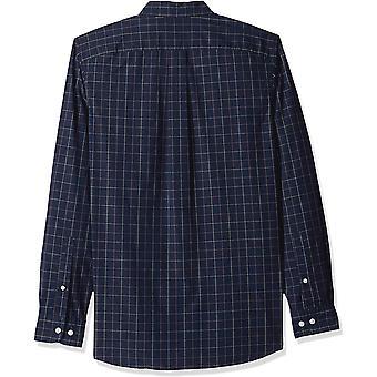 Goodthreads Men's Slim-Fit Long-Sleeve Plaid Poplin Shirt, -navy windowpane, ...